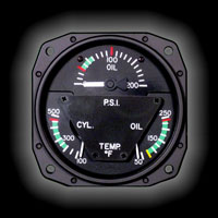 1U417 Multifunction Engine Gauge